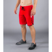Virus Men's Airflex Training Shorts (ST1-RDSL) Red with Silver