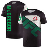 Reebok Conor McGregor Black/Green UFC Jersey