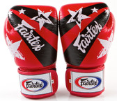 Fairtex Nations Print Muay Thai Sparring Gloves RED
