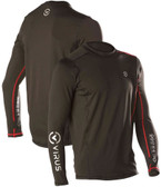 Virus Men's Stay Warm BLACK Long Sleeve Fitted Top with Thumb Hole (SiO10)