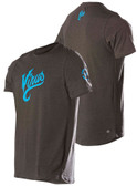 VIRUS Men's SCRIPT Premium Custom T-shirt (PC1) - Black w/ Blue