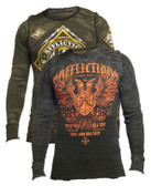 Affliction Mass Power Long Sleeve Crew Neck Reversible Thermal