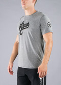 VIRUS Men's SCRIPT Premium Custom T-shirt (PC1) - Grey/Black