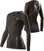 Virus Women's Stay Cool Compression Long Sleeve X-Form V-Neck Top (ECo12x)