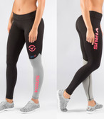 Virus Women's Stay Cool Eco21 Compression Pant BLACK/CORAL