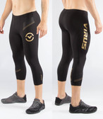 Virus Mens Bioceramic 3/4 Length Pants AU18 BLACK/GOLD