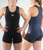 Virus Womens Bioceramic ELEVATE V2 Weightlifting SINGLET EAU12 Black/Navy