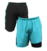 Virus Mens Origin Active Shorts (ST3) TEAL/BLACK