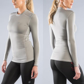 Virus Women's STAY WARM Long Sleeve Compression Crew (ESiO2) GREY
