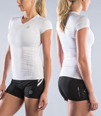 Virus Stay Cool Short Sleeve Compression V-Neck (ECo6)