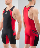 Virus MEN'S BIOCERAMIC ELEVATE II WEIGHTLIFTING SINGLET (AU12)Black/RED