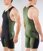 Virus MEN'S BIOCERAMIC ELEVATE II WEIGHTLIFTING SINGLET (AU12) Olive Green