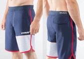Virus Mens Velocity Shorts (ST5) Navy/Red