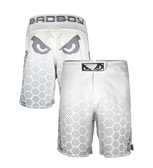 Bad Boy Legacy III  White/Grey Fight Shorts