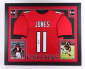 "Julio Jones Signed Falcons 35"" x 43"" Custom Framed Jersey (JSA COA)"