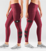 Virus Women's Stay Cool ZEPU Mesh Compression Pant (ECO40) Maroon