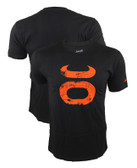 Jaco Grunge Crew Black/Orange Shirt