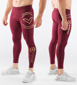 Virus Bioceramic™ Compression V2 Tech Pants (Au9) Maroon/Gold