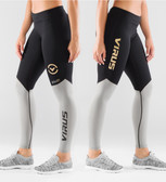 Women's Bioceramic V2 Compression Pants (EAU21) Black/Grey