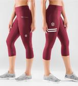 Virus Women's Power Tech Crop Pants (ECO24) Maroon