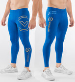 Virus Bioceramic™ Compression V2 Tech Pants (Au9) Electric Blue/Gold