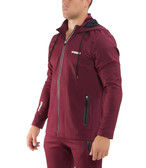 Virus Mens BioFleet Full Zip Training Jacket (AU17) Maroon