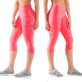 Virus Women's Stay Cool Compression Crop Pant (Eco34) Teaberry