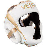 VENUM ELITE HEADGEAR WHITE/GOLD
