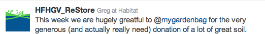 Habitat for Humanity, Vancouver tweet about My Garden Bag