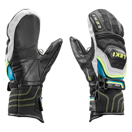 Leki World Cup Race Flex S Jr Mittens - Black/Cyan