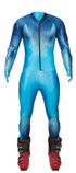 Spyder's GS Padded Ski Race Suit in color Electric Blue / Concept Blue