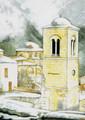 PK-C12N Winter Scene Note Cards: Hosios Loukas Monastery