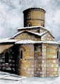 PK-C10N Winter Scenes Note Cards: Panagia Kastriotissa