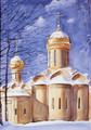 PK-C9N Winter Scenes Note Cards: Trinity Cathedral/Nikon Cha