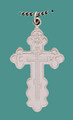 Cross SS St. Olga Style, Med w/18&quot; Stainless Steel Chain