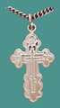 Cross SS St. Olga Style, Sm. w/18&quot; stainless steel chain, engr.