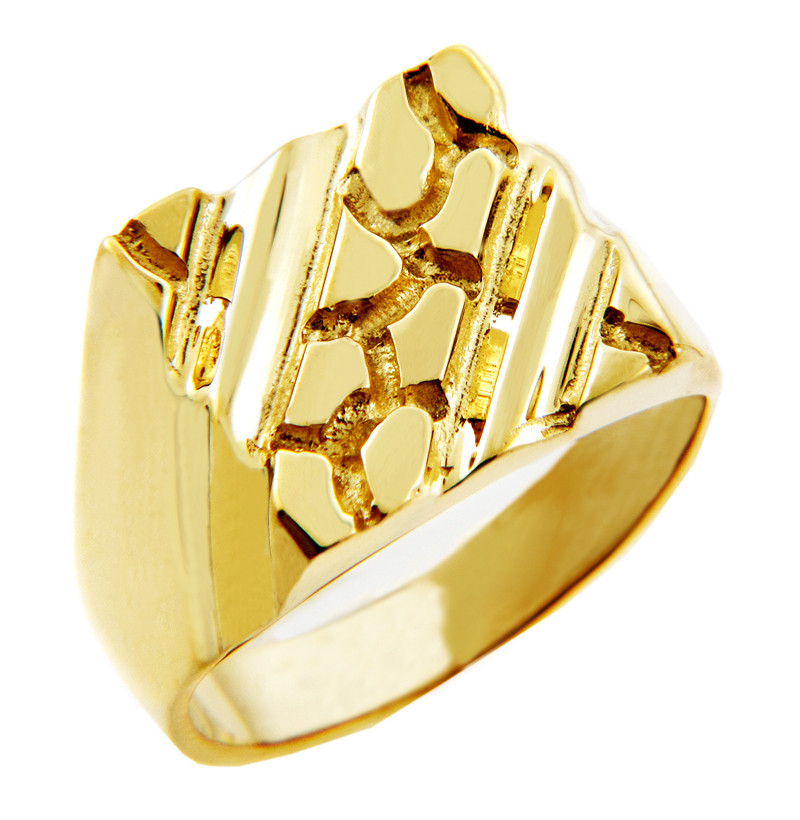 s apex solid gold nugget ring ebay
