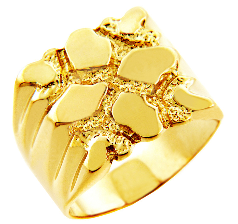 s summit solid gold nugget ring ebay