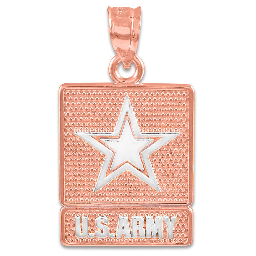 Gold US ARMY Pendant