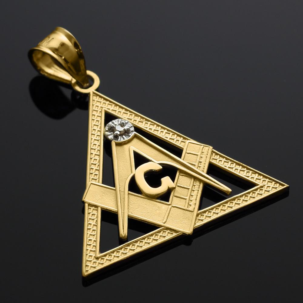 gold triangle freemason masonic pendant ebay