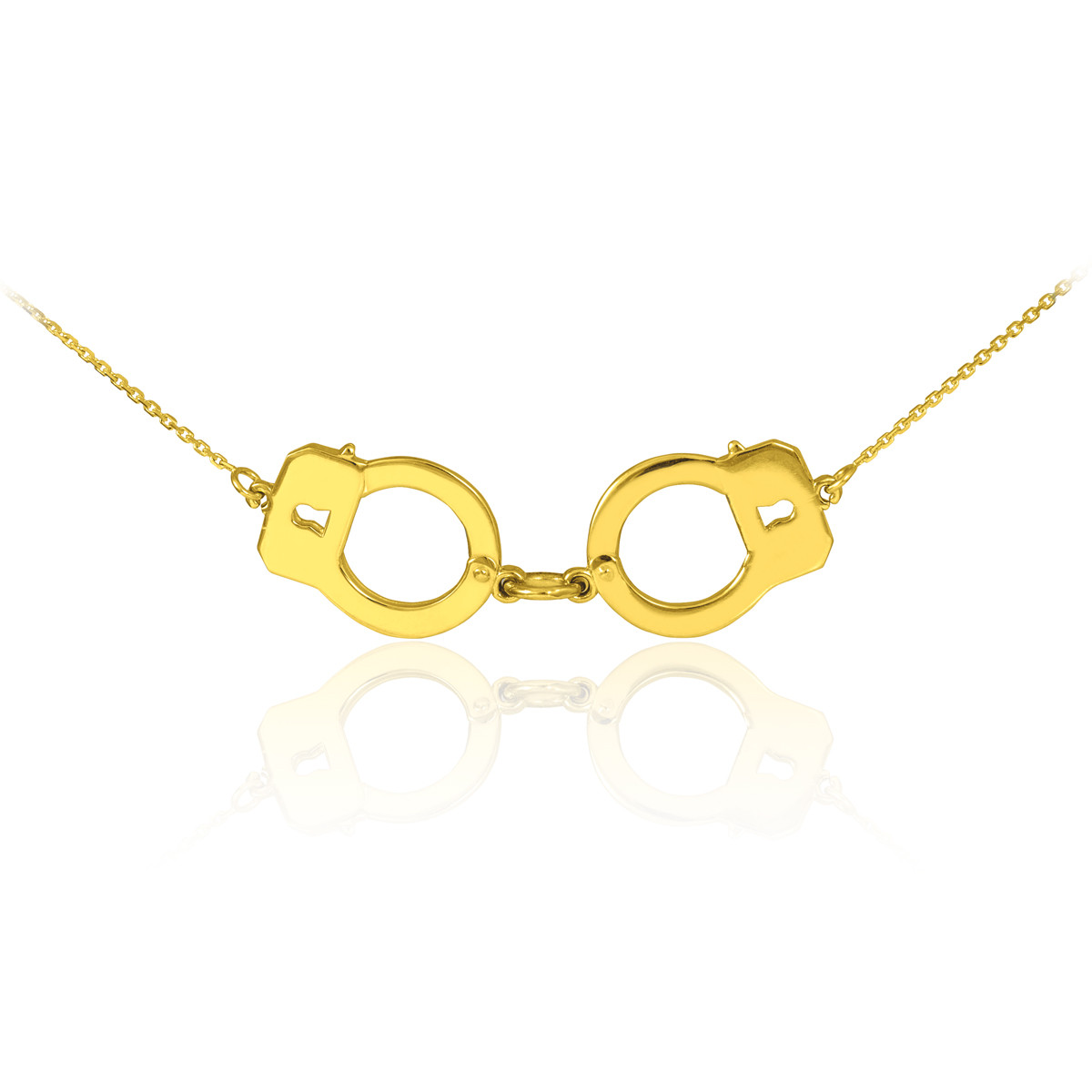 14k solid gold handcuffs necklace ebay