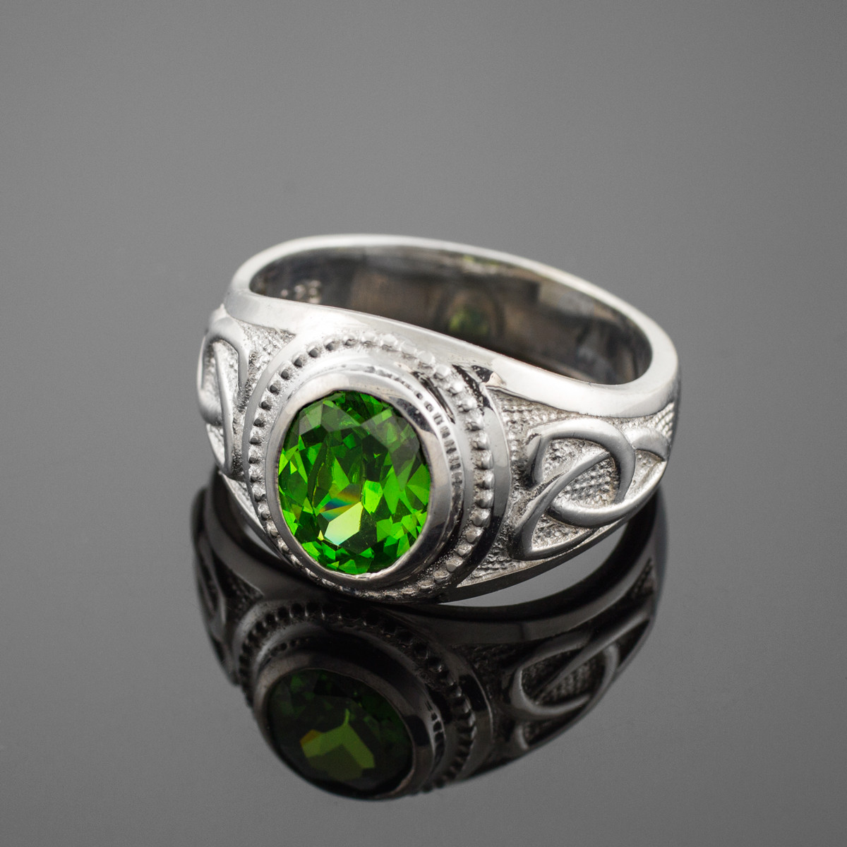sterling silver emerald green cz s ring made
