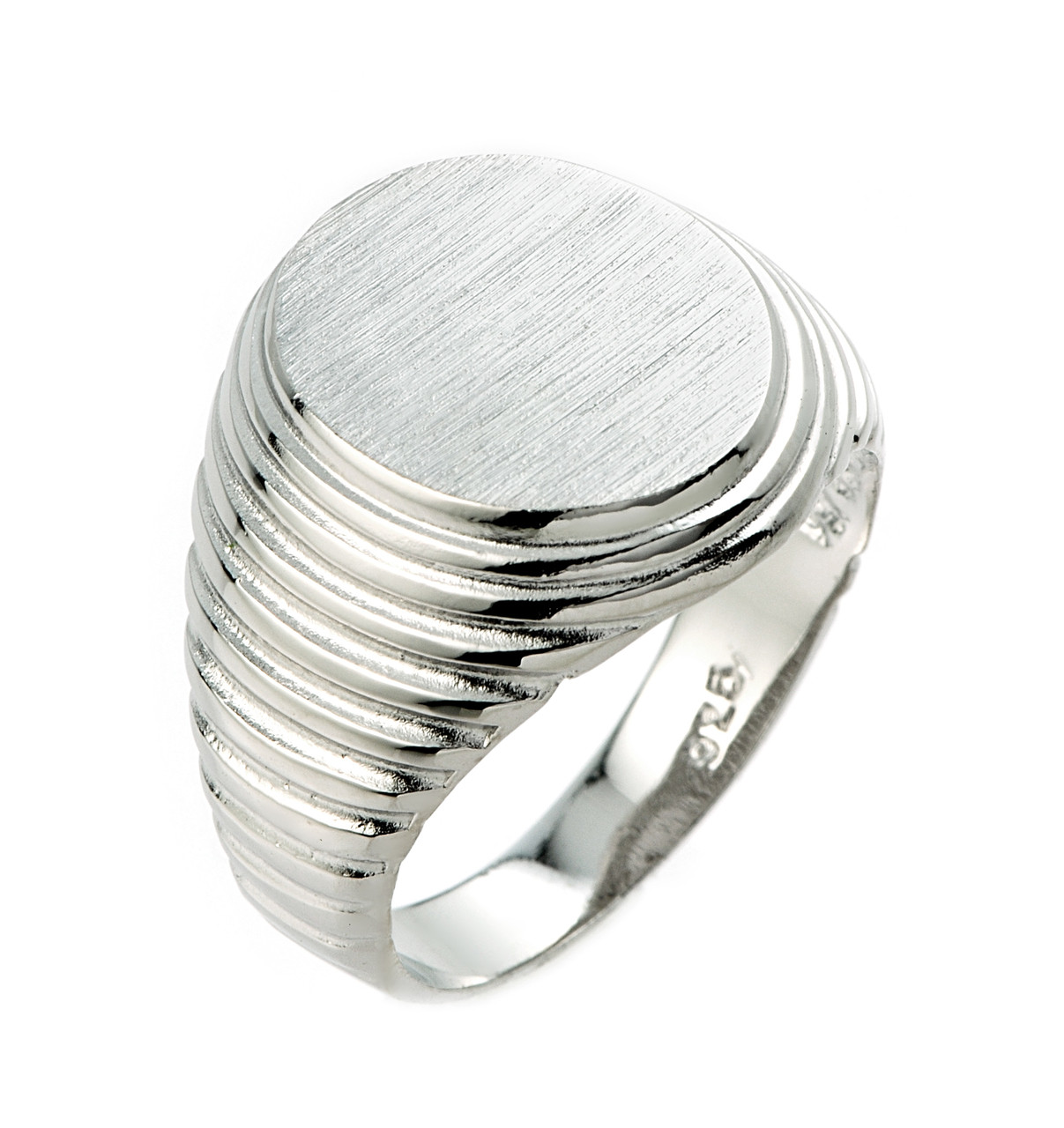 925 Sterling Silver Signet Ring For Men Made In USA
