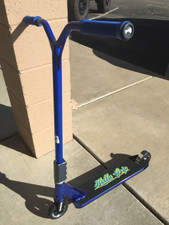 """""""Kryptic BLUE BOMBER"""" Custom Scooter www.krypticproscooters.com"""