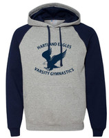 HHS Gymnastics Color Block Raglan Hoodie