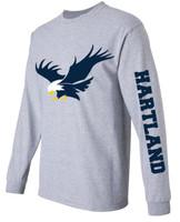 Hartland Unisex Sport Grey Long Sleeve Tee