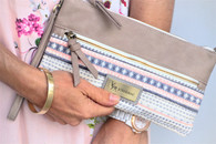 Woven Poetry Clutch