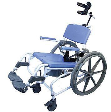 Petite or Pediatric Tilt Shower Commode Wheelchair