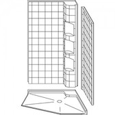 Accessible Neo-Angle Corner Shower 42 X 42