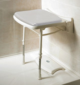 Padded Fold Up Shower Seat Gray Pad AKW-02000P
